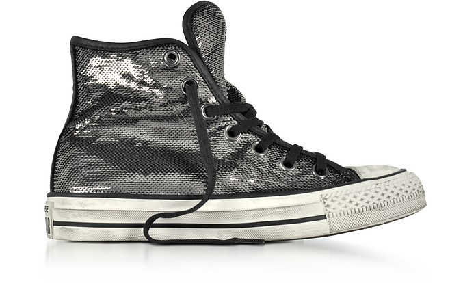 51dcf6539d64 Chuck Taylor All Star High Distressed Ox Thunder   Black Sequins Sneakers -  Converse Limited Edition