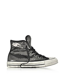 Chuck Taylor All Star High Distressed Ox Thunder & Black Sequins Sneakers - Converse Limited Edition