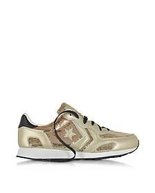 Auckland Racer Ox Light Gold Sneaker aus Leder mit Pailletten - Converse Limited Edition
