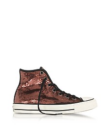Chuck Taylor All Star High Distressed Ox Copper & Black Sequins Sneakers - Converse Limited Edition