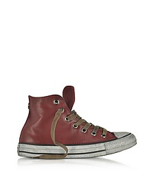 Chuck Taylor All Star High Vintage Red Leather LTD Unisex Sneakers - Converse Limited Edition