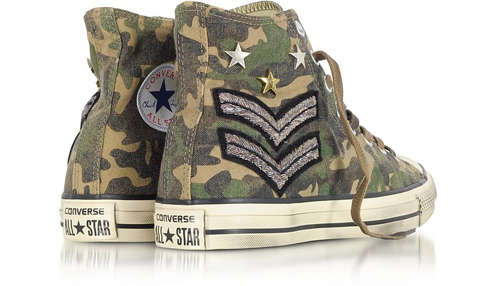 c2795dc4db79 Chuck Taylor All Star High Military Patchwork Canvas LTD Unisex Sneakers -  Converse Limited Edition. €69