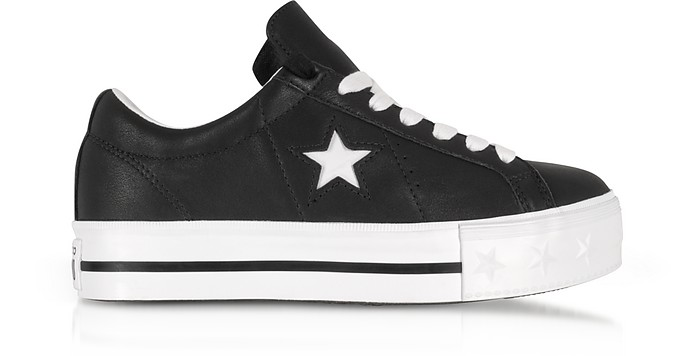 f2af2d4a743e Black and White One Star Platform Ox Women s Sneakers - Converse Limited  Edition