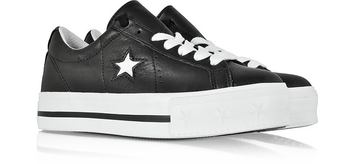 878eb1207235 Black and White One Star Platform Ox Women s Sneakers - Converse Limited  Edition. £83.50 £139.16 Actual transaction amount