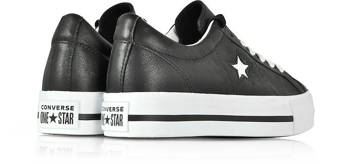 cc13d3211ea Black and White One Star Platform Ox Women s Sneakers - Converse Limited  Edition. Sold Out