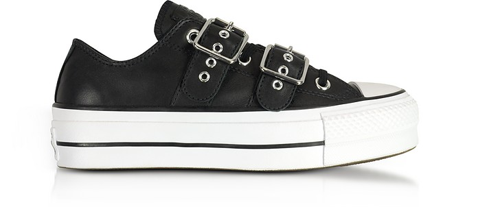 Chuck Taylor All Star Lift Buckle Black Platform Sneakers - Converse  Limited Edition 97228678f