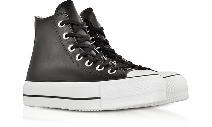 1cd360fb3fd Chuck Taylor All Star Lift Clean Black Leather High Top Platform Sneakers -  Converse Limited Edition. £55.60 £139.00 Actual transaction amount
