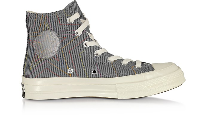 Cool Gray Chuck 70 Exploding Star High Top - Converse Limited Edition