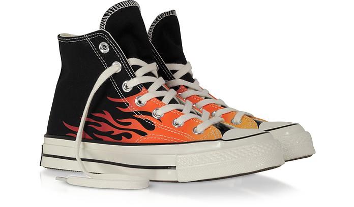 Chuck 70 Archive Sneakers in Canvas Nero con Fiamme Converse ...