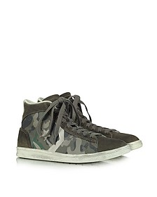 Pro Leather Mid Canvas and Suede Sneaker