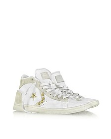 Studded Pro Leather High Top Sneaker