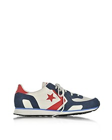 Auckland Racer Distressed Ox Vaporous Gary/Athletic Navy Men's Sneakers - Converse Limited Edition
