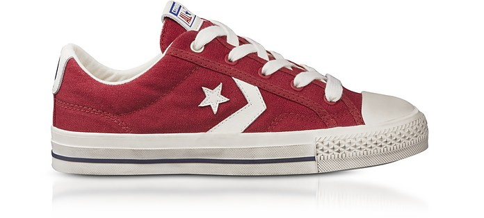 Red Star Player Distressed Ox Canvas Men's Sneakers - Converse Limited Edition