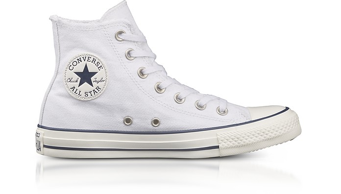 Chuck Taylor All Star High White Canvas Sneakers - Converse Limited Edition