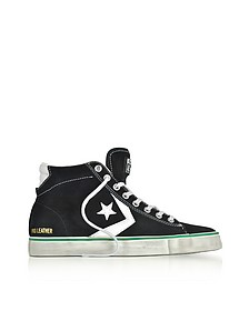 Pro Leather Vulc Mid Distressed Black Suede Sneakers - Converse Limited Edition