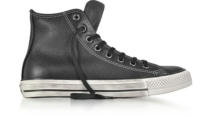 Chuck Taylor All Star High Black Leather and Suede Sneakers - Converse  Limited Edition 90e42942b