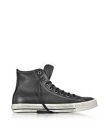 Chuck Taylor All Star High Black Leather and Suede Sneakers - Converse Limited Edition