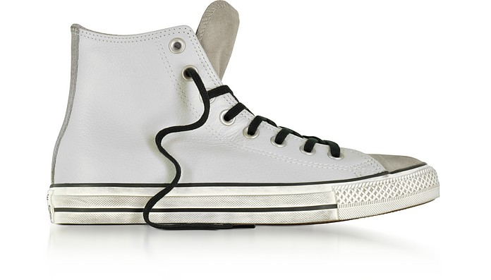 Chuck Taylor All Star High Stone Leather and Suede Sneakers - Converse Limited Edition