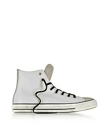 Chuck Taylor All Star High Sneaker aus Leder und Wildleder in steingrau - Converse Limited Edition