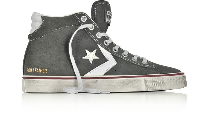 e969a91ba7ed42 Twitter · Pinterest · Share on Tumblr. Pro Leather Vulc Mid Distressed Gray  Suede Sneakers - Converse Limited Edition