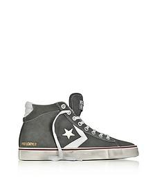 Pro Leather Vulc Distressed - Sneakers Mi-hautes Homme en Suède Gris - Converse Limited Edition