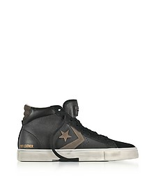 Pro Leather Vulc Mid Distressed Black Leather Sneakers - Converse Limited Edition