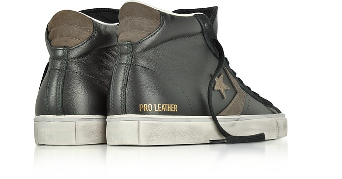 34be25e2e79215 Facebook · Twitter · Pinterest · Share on Tumblr. Pro Leather Vulc Mid  Distressed Black Leather Sneakers - Converse Limited Edition.  62.50   125.00 Actual ...
