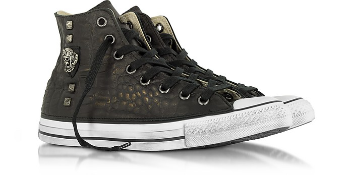 35b11eea88f4 Chuck Taylor All Star High Black Leather and Canvas LTD Men s Sneakers w  Metal Studs. AU 142.50 AU 285.00 Actual transaction amount