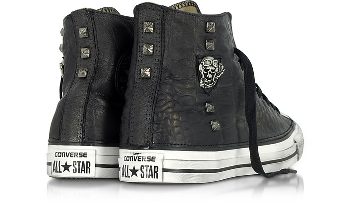 24c59a5e73da Chuck Taylor All Star High Black Leather and Canvas LTD Men s Sneakers w  Metal Studs.  205.00 Actual transaction amount