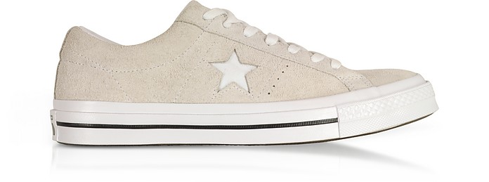 One Star Ox White Low Top Men's Sneakers - Converse Limited Edition