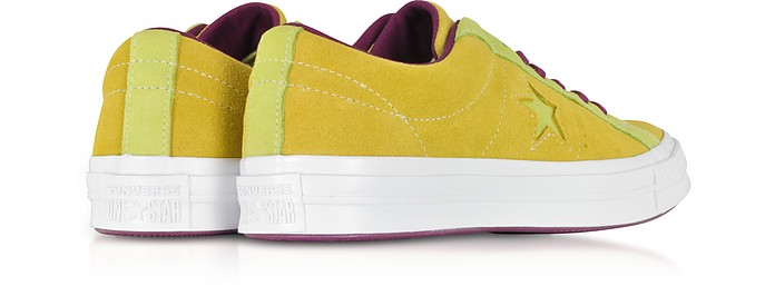 5b9f5b36eab2ff One Star Ox Apple and Shark Green Suede Low Top Men s Sneakers - Converse  Limited Edition. 60% Off