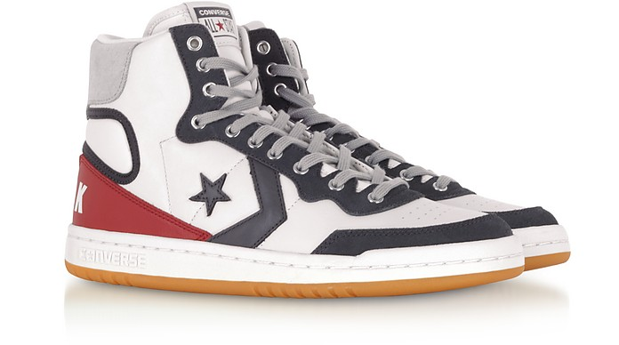 Fastbreak Hi Light Gray and Storm Wind Leather High Top Men s Sneakers -  Converse Limited Edition. Sold Out e13db9ca4
