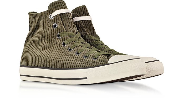 9252193bf113e1 Chuck Taylor All Star Hi Military Green Corduroy High Top Sneakers -  Converse Limited Edition. £42.00 £105.00 Actual transaction amount