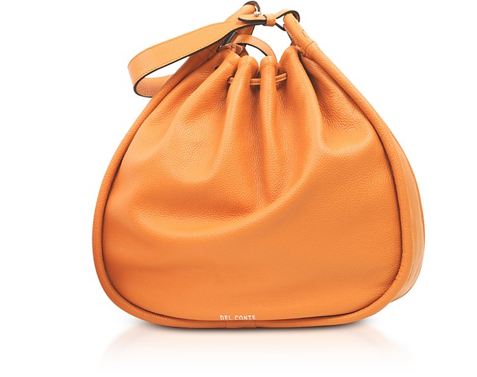 Genuine Leather Sveva Bucket Bag - Del Conte