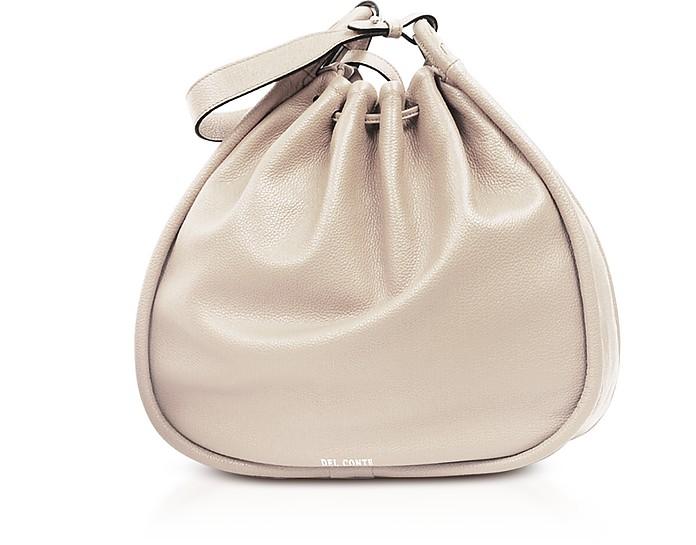 Genuine Leather Sveva Bucket Bag - Del Conte