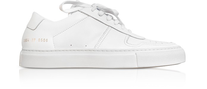 Bball Low White Leather Women's Sneakers - Common Projects