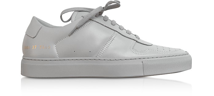 Bball Low Grey Leather Women's Sneakers - Common Projects