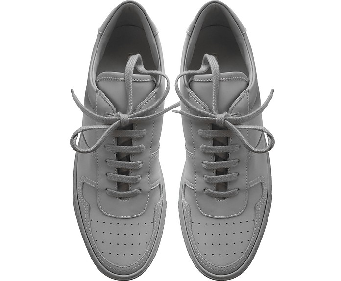Common Projects Bball Low Grey Leather Women S Sneakers In Gray ... f243785ea