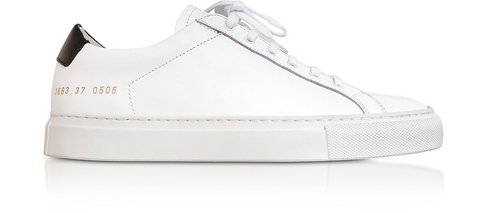 White Leather Retro Women's Sneakers - Common Projects