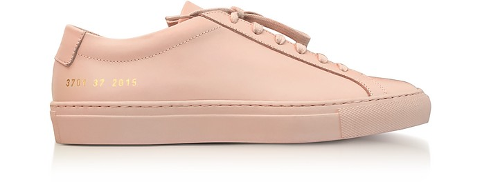 Blush Leather Achilles Original Low Top Women's Sneakers - Common Projects