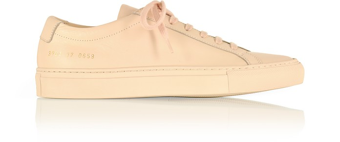 678ad3310048 Common Projects Nude Leather Achilles Original Low Top Women s Sneakers