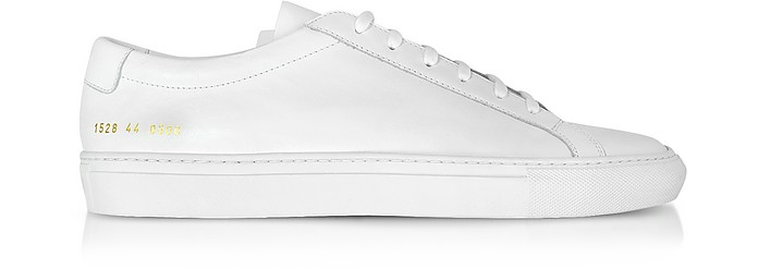 43af0520d5ab Common Projects Original Achilles Low White Leather Men's Sneaker 39 ...