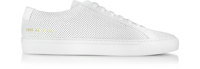 buy online 1ebe2 a59da Original Achilles Low White Perforated Leather Men's Sneaker