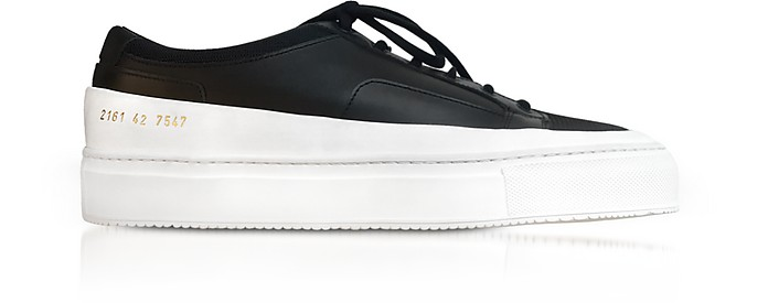 Black Leather Achilles Super Men's Sneakers - Common Projects