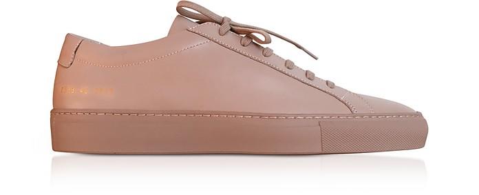 Dusty Pink Leather Original Achilles Low Men's Snaeakers - Common Projects