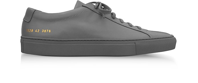 8b509b3726605b Common Projects Medium Grey Leather Original Achilles Low Men's Sneakers
