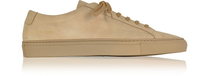 Tan Nubuck Original Achilles Low Men's Sneakers - Common Projects