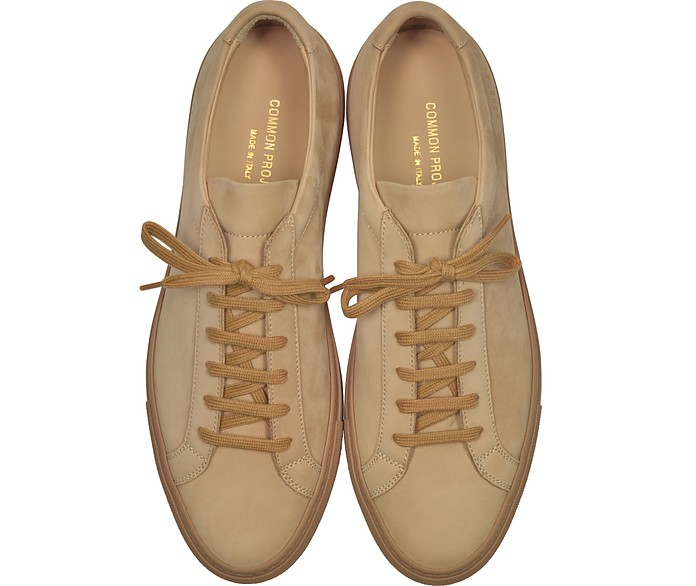 new arrivals aeb17 ff0bb Tan Nubuck Original Achilles Low Men s Sneakers - Common Projects.  418.00  Actual transaction amount