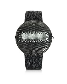 Clou Dinner - Montre en Diamants Noirs