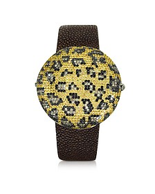 Clou Leopard Diamond Dinner Watch